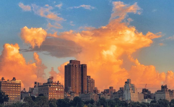 Late Day Over the Upper East Side Central Park Manhattan New York Upper East Side City Cloud - Sky No People Sky Sunset