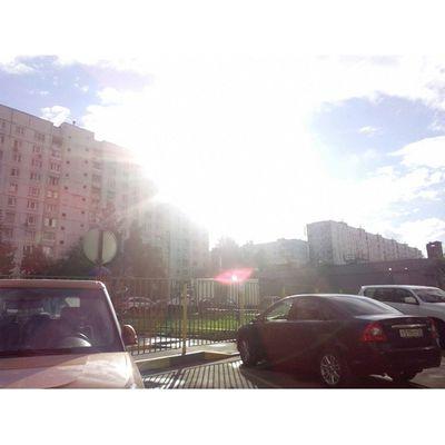 Солнышко :3 Moscow Russia отрадное солнце sun