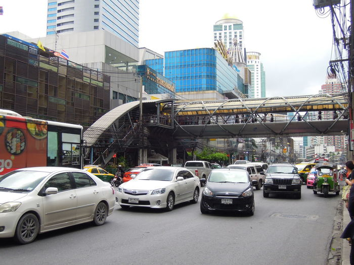 Cars moving on city