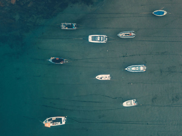 Boats in harbour over hope cove in South Devon Aerial Shot Devon Hope Cove South Devon United Kingdom Architecture Boats Day Dronephotography Mavic Pro Nature Nautical Vessel No People Outdoors Sea South Hams Water