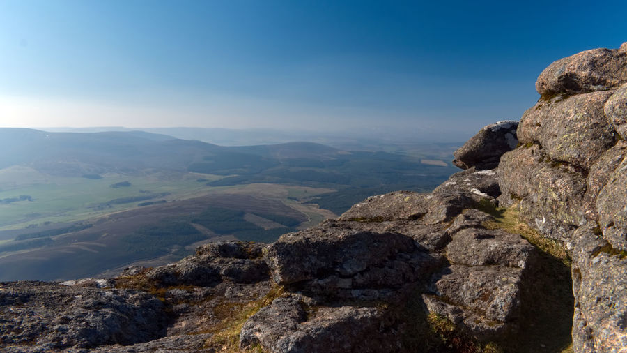 Scotland 💕 Ben Rinnes Scottish Landscape Crags View From The Top Mountain Sky Landscape Rock Formation Physical Geography Rock - Object Geology Tranquil Scene Mountain Range
