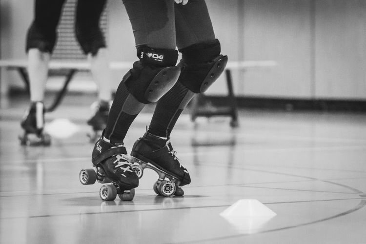 Quads Roller Derby Black And White Blackandwhite Indoor Photography Roller Skates Rollerderby Rollerskates Rollerskating