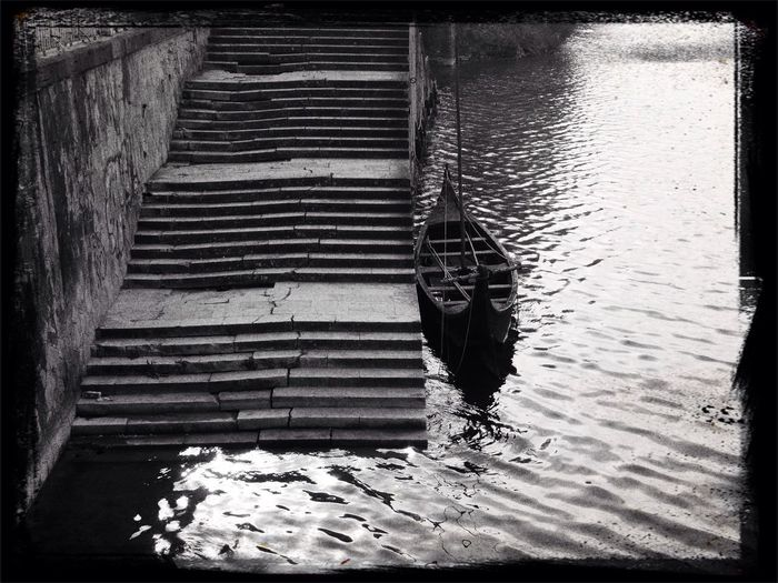 Waiting for you... Blackandwhite Boat River Water_collection