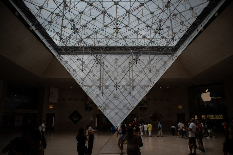 Louvre Adult Architecture Built Structure Ceiling Crowd Day Glass - Material Group Of People Illuminated Indoors  Large Group Of People Lifestyles Men Real People Skylight Transportation Travel Travel Destinations Walking Women