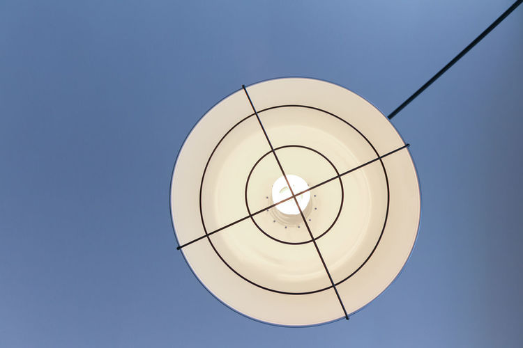 Ceiling Target Abstract Blue Built Structure Ceiling Light  Circle Clean Copy Space Day Design Directly Below Geometric Geometric Shape Indoors  Lightbulb Lighting Equipment Low Angle View No People Pattern Room Light Shape Technology Wire