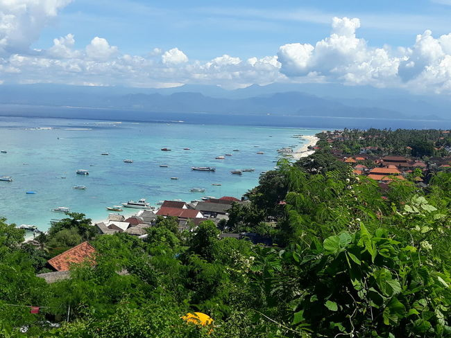 From the top Landscape Beauty Bali Trees Sea Pointofview Clouds Nopeople Nature Viewer Green INDONESIA Lembongan Blue Huts Perfectlight Beauty