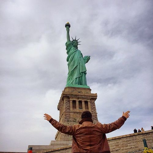 The Places I've Been Today Statue Of Liberty Ellis Island  Statueofliberty Statuette Enjoying Life Hello World Statue Park