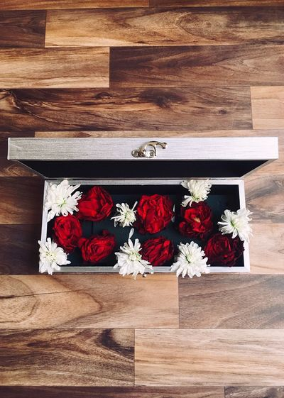 box of life No People Red Flower Flowering Plant Wood - Material Nature Plant First Eyeem Photo