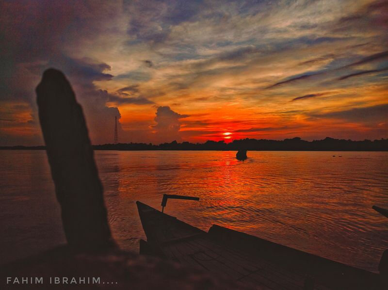 Sunset Sky Cloud - Sky Sea Orange Color Scenics Water Beauty In Nature Nature No People Tranquility Horizon Over Water Outdoors Nautical Vessel Airplane @anickchowdhurymp Mobilephotography Eyeembangladesh Perspectives On Nature Perspectives On Nature Perspectives On Nature