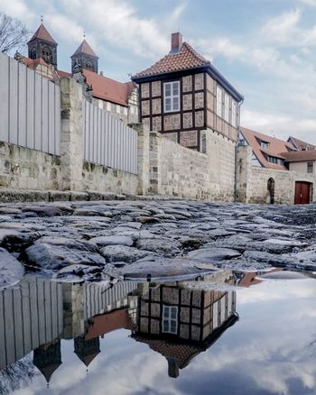 Architecture Built Structure House Building Exterior Snow Cold Temperature Sky Winter Nature No People Water Outdoors Residential Building Day Puddle Puddlegram Reflection Unesco Unesco World Heritage