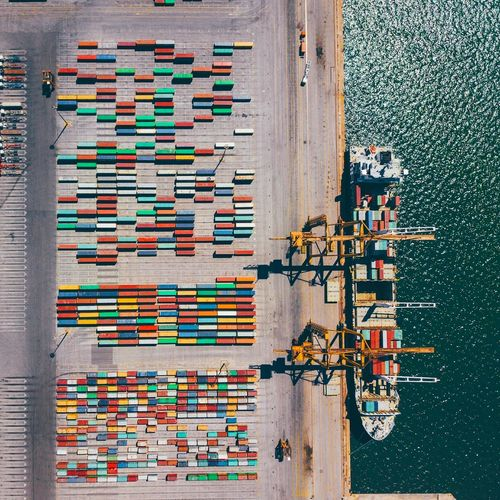 |tetris| EyeEm Selects Bird Eyes View Aerialphotography Aerial Shot Drone  Mavic Pro Greece Dronephotography Dji DJI Mavic Pro Aerial View Ship Cargo Cargo Ship Cargo Container Boat Cargoship Water Aerial Photography Cargo Boat Cargo Ships Cargo Containers Container Colorful Colors EyeEmNewHere Fresh on Market 2017 AI Now