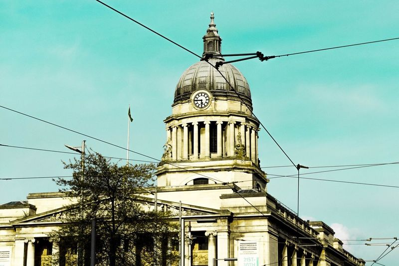 """""""Nottingham- it's a shithole, but it's home"""" Architecture Cable Building Exterior Low Angle View Built Structure Dome Day Outdoors No People Sky Tree EyeEmNewHere Nottingham Urban Photography EyeEmNewHere"""
