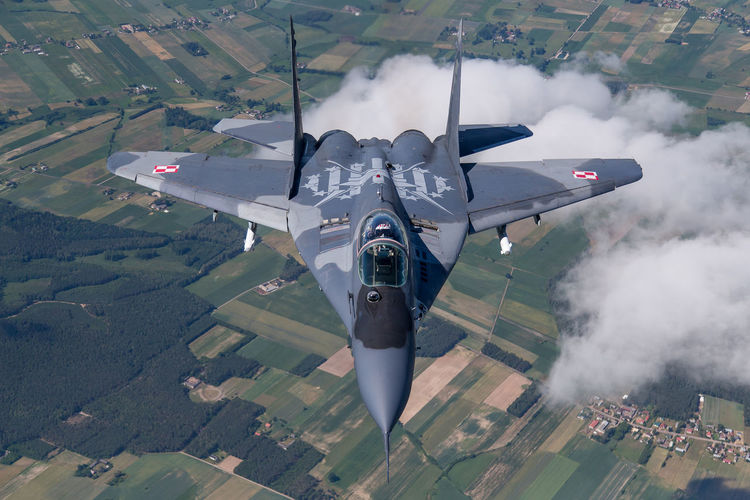 Aircraft Airforce Avgeek Aviation Clouds Earth Fighter Fulcurm MiG29 Military Photography Photoshoot Poland Sky