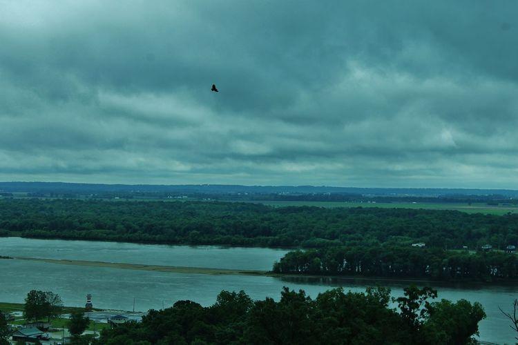 Beauty In Nature Grafton IL Landscape No People Overcast Remote River Road Scenics Sky Weather