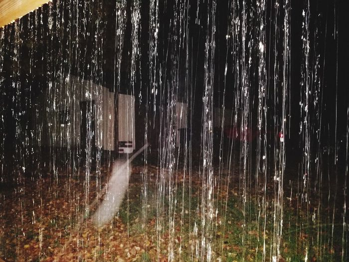 Raindrops Water No People Outdoors Night