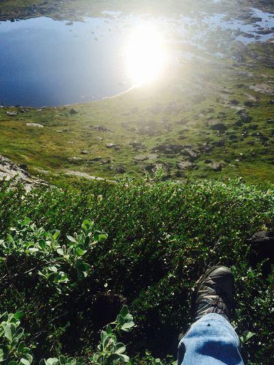 Sitting Taking A Break Climbing A Mountain Qaqqarsuattaa Ilulissat Lakeview Greenland Steep Hill Dangerous Beautiful Me