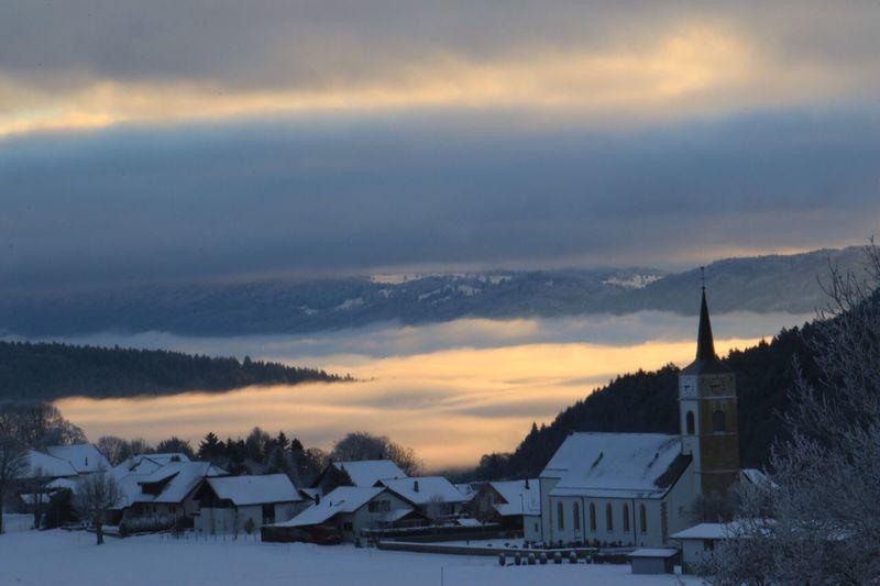 Winter Snow Cold Temperature Cloud - Sky Beauty In Nature Scenics Tranquil Scene