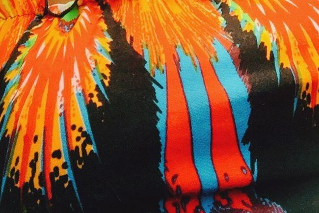 Flare Dress Pattern Flare Pow Pop Bright Aztec Tribal