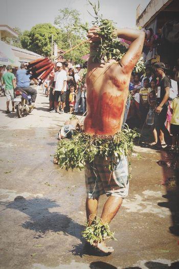 Self Flagellation Blood Whip Woods Chain Hooded Holy Week Leaves🌿