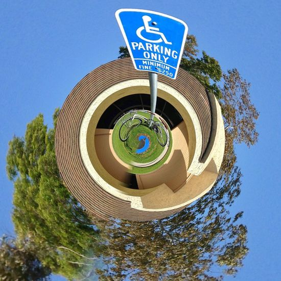 The OO Mission Signs Sign Tiny Planet Tinyplanet Handicap Parking Handicapped Handicapped Sign Circles In Circles Circular California No Parking No Parking Sign Unusual Abstract Photography Creative Creative Shots Creative Photography Funny Signs Fine Art Photography Fresh On Eyeem  Fresh On Eyeem  Showcase July Home Is Where The Art Is A Bird's Eye View