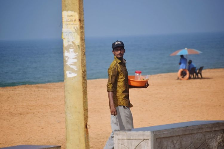 Sea Beach Real People Outdoors Men Day Occupation One Man Only Trivandrum The New Normal Working Hard