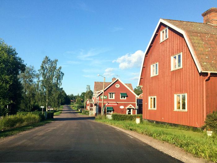 Houses beside road