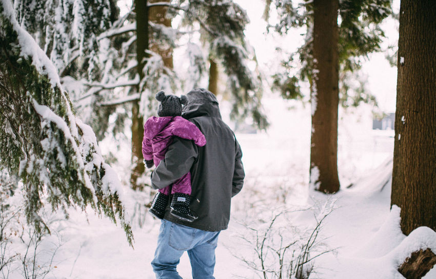 The view I love the most! Beauty In Nature Fatherdaughter Forest Lifestyles Love Snow Snowing Winter
