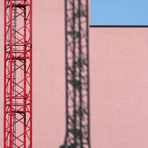 Architecture No People Day Built Structure Building Exterior Construction Industry Outdoors Red Wall - Building Feature Construction Site Industry Pattern Shadow