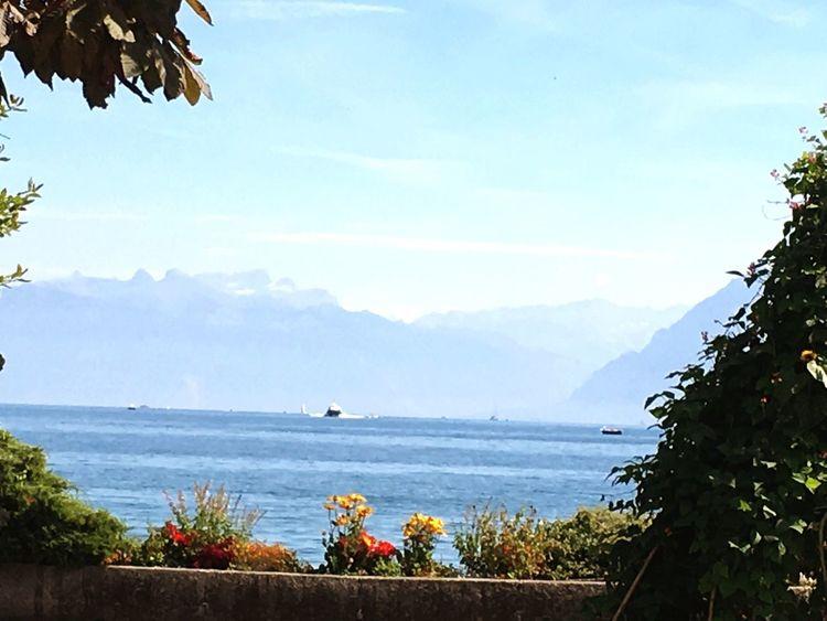Bateau Lac Léman Lac Eau Water Montagnes Mountains Alpes AlpesFrancaises Morges Landacape Alpessuisses Alpes Françaises Tranquility Transportation Transport Geneva