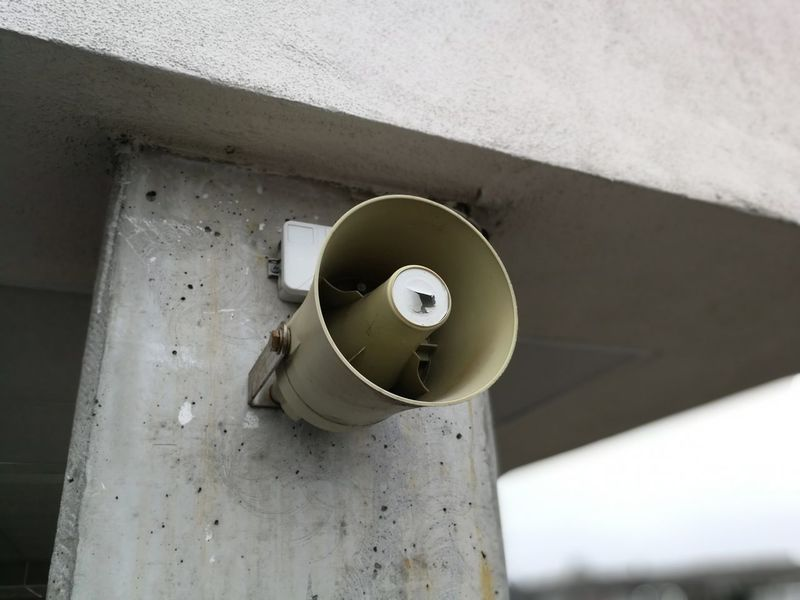 Speaker Lautsprecher Speaker Signal Outdoor HuaweiP10 Stone Material Loudspeaker EyeEm Selects Pipe - Tube Day No People Domestic Room Indoors  Close-up
