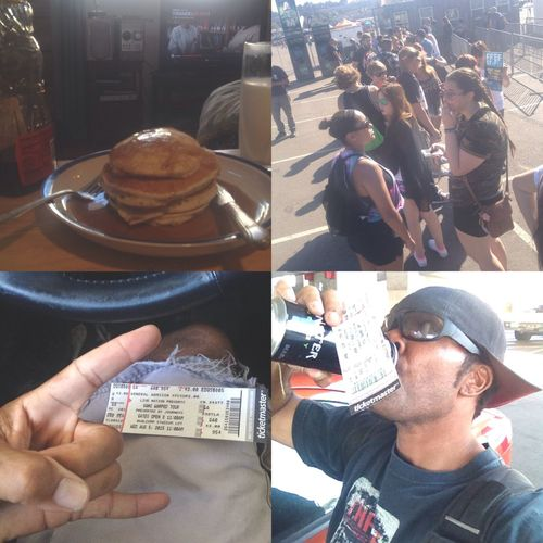 Had a hearty breakfast, got my tickets and getting energized. Now I'm ready for the best day of summer. Vanswarpedtour
