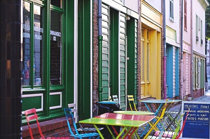 Street Multi Colored Architecture Building Exterior Built Structure Outdoors Vintage City Travel Destinations