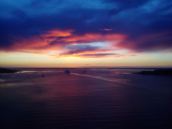 Sunset Sea Dramatic Sky Horizon Over Water Seascape Scenics Night Cloud - Sky Travel Destinations Outdoors Landscape Vacations Reflection Riotejo Rio Tejo Rio Tejo Lisboa Lisbon Lisboa Lisbonlovers Lisbon, Portugal