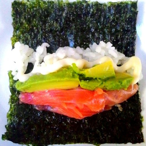 D.I.Y. sushi Sushi Salmon Japanese Food Cooking At Home