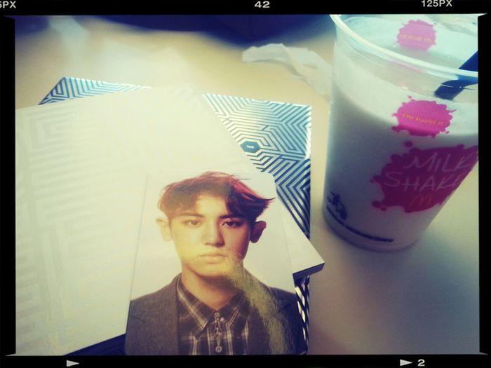 Exo overdose~Milk shake EXO Overdose Park Chanyeol Picoftheday