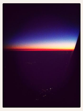 Flying High. Sunset Over A Different Country!