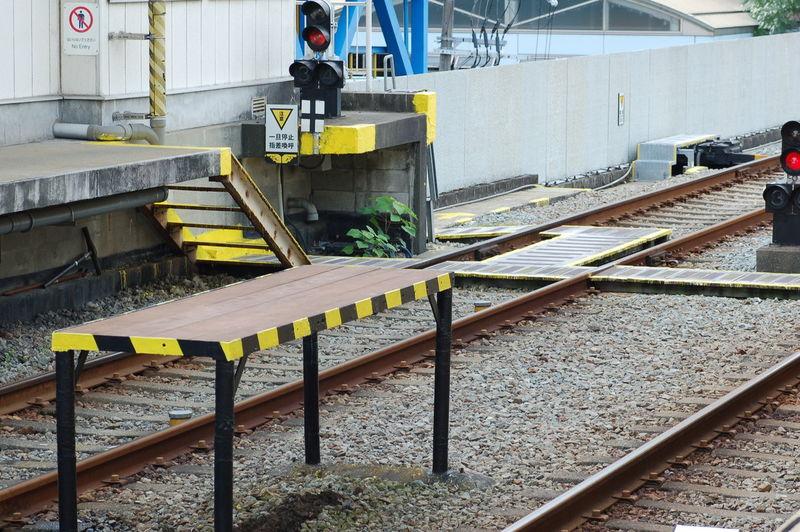 Man working on railroad track