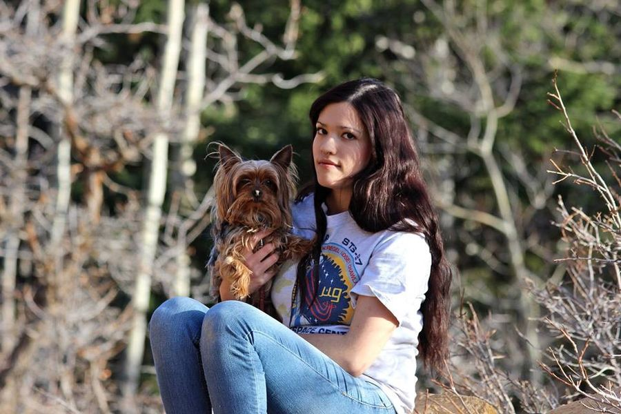 Sid and I Yorkshire Terrier Yorkie ♥ Me Outdoors Trees Nature Photography Mountains Cedar City, Utah Utah Long Hair Longblackhair