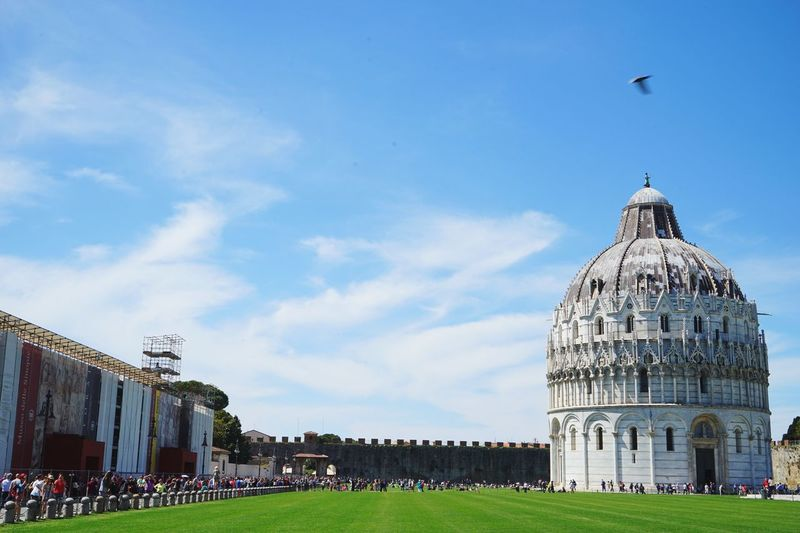 Sky Architecture Dome Built Structure Travel Destinations History Lawn Cloud - Sky Outdoors Day Building Exterior Grass No People Politics And Government Pisa, Italy Italy Pisa Landmarks Architecture City Neighborhood Map