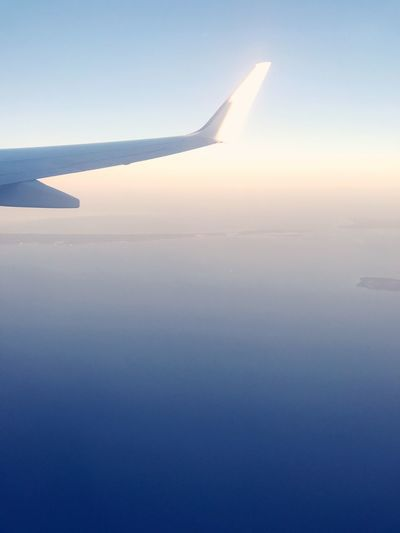 Airplane Transportation Journey Airplane Wing Travel Flying Mode Of Transport Air Vehicle Sky Nature No People Aircraft Wing Blue Outdoors Mid-air Scenics Beauty In Nature Aerial View Day Clear Sky EyeEm Nature Lover Nature Followme Travel Transportation