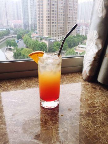 Grapefruit Sunrise Grapefruitjuice FreshOrangeJuice Tequila Grenadine Homemade Bartender Shanghai China