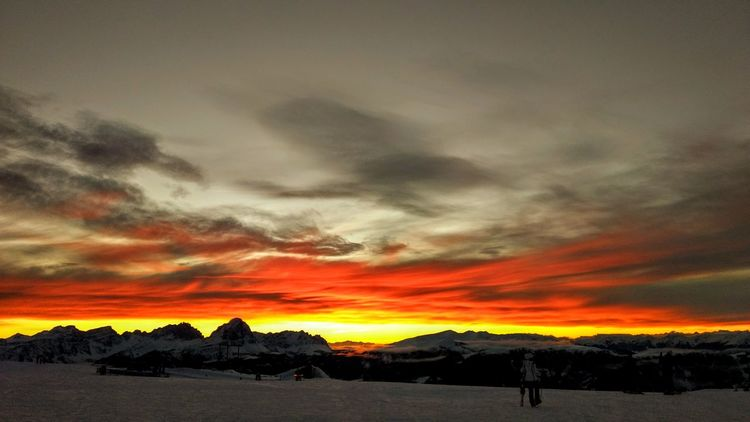 EyeEm EyeEm Nature Lover EyeEm Best Shots EyeEm Gallery EyeEm Selects EyeEmBestPics Eyeemphotography Kronplatz Plan De Corones Sunset Dramatic Sky Nature Beauty In Nature Landscape Multi Colored Cloud - Sky