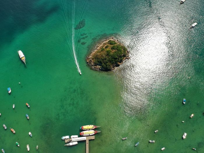 This water color Water High Angle View Sea Nautical Vessel Nature Green Color No People Aerial View Travel Outdoors