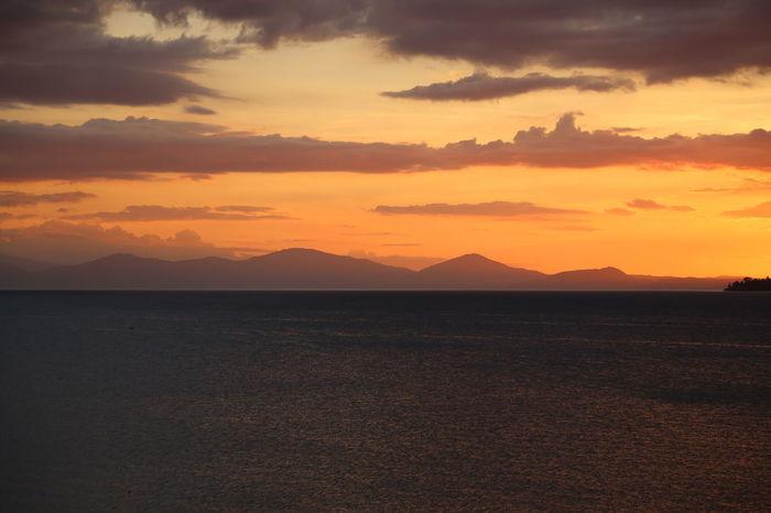 Beauty Cloud - Sky Lake Taupo Landscape Mountain Nature New Zealand Outdoors Scenics Sky Sunset