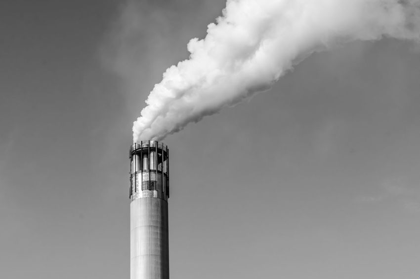 Abgase Architecture B&w Black And White Building Exterior Built Structure Chimney Cloud - Sky Day Development Factory High Section Industry Low Angle View Luftverschmutzung No People Outdoors Rauch Schornstein Sky Smoking Weed Tall Tall - High Tower