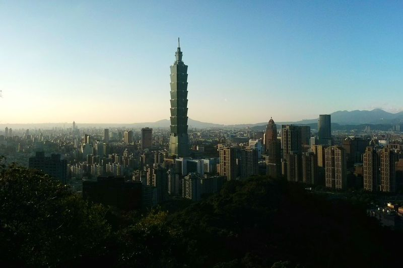 Tallest building in the world (2004-2010). Taipei 101 Cityscapes I Love My City Amazing Architecture Mountain View EyeEm - Taiwan . Seeing The Sights Landscapes With WhiteWall