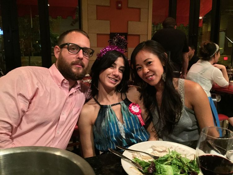 Aaron, Maria(it was also her birthday) and Tran MyExoticFriends HappyBirthdayToMe June6 LaDolceVita