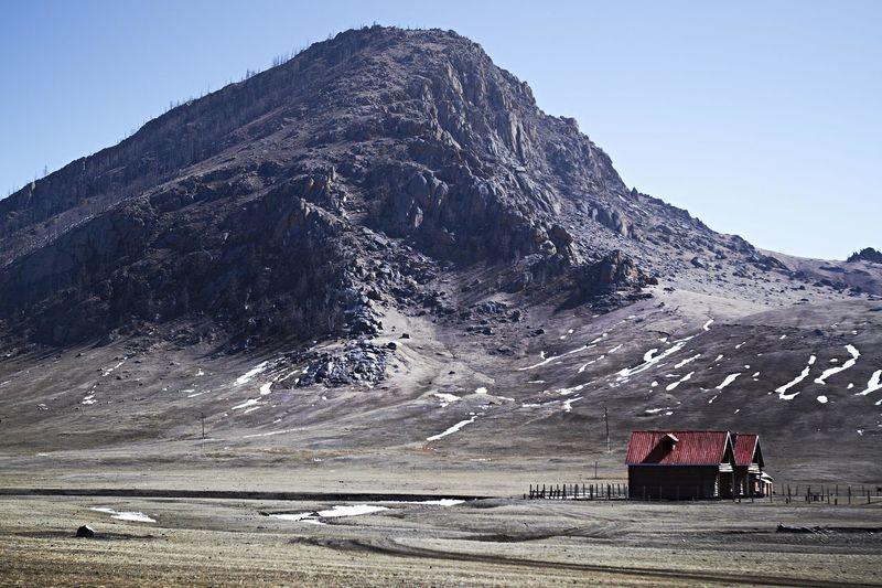 Mongolia House Mongolia Building Exterior Clear Sky Cold Temperature Landscape Mountain Nature Outdoors Scenics