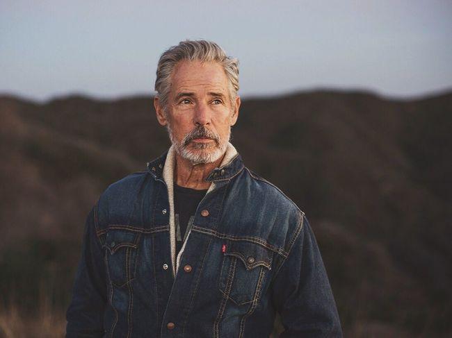 In front, not over the hill. Legendary all American original super model, Bruce Hulse. California Denim Levis Model Portrait Landscape Real People