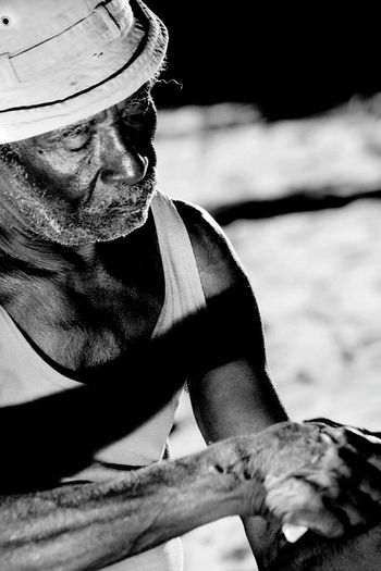 Brazil Brazilian Brazil Native Fisherman Monochrome Black And White An Old Man Bazilian Soul Nationalgeographic People Of EyeEm People Photography